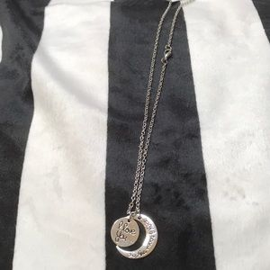 Cameron Dakota Jewelry - I Love You to the Moon & Back Long Necklace Silver